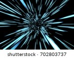 abstract of warp or hyperspace... | Shutterstock . vector #702803737