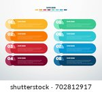 colorful modern infographics on ... | Shutterstock .eps vector #702812917