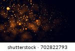 gold abstract bokeh background. ... | Shutterstock . vector #702822793
