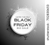 black friday sale abstract... | Shutterstock .eps vector #702830653