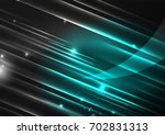 glowing futuristic lines in the ... | Shutterstock . vector #702831313
