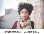 portrait of young beautiful... | Shutterstock . vector #702855817
