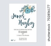 flower wedding invitation card... | Shutterstock .eps vector #702856177