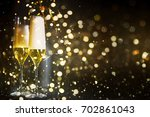 new years eve celebration... | Shutterstock . vector #702861043