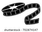 reel of film icon | Shutterstock .eps vector #702874147
