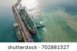 aerial view crude oil tanker...   Shutterstock . vector #702881527