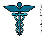 asclepius rod icon image | Shutterstock .eps vector #702901963