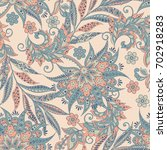 vintage floral seamless pattern | Shutterstock . vector #702918283