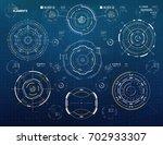 vector circular elements set...