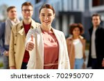 business  success and gesture... | Shutterstock . vector #702950707