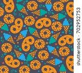 the pattern of ice cream cones  ...   Shutterstock .eps vector #702952753
