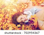 season and people concept  ... | Shutterstock . vector #702954367