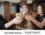 portrait of happy young friends ... | Shutterstock . vector #702974947
