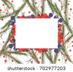 frame made of hand drawn... | Shutterstock . vector #702977203
