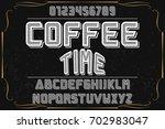 font script typeface vector... | Shutterstock .eps vector #702983047