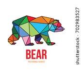 animal logo icon symbol... | Shutterstock .eps vector #702983527