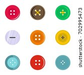 circular clothes button icon... | Shutterstock .eps vector #702995473