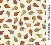 seamless modern fall autumn...   Shutterstock .eps vector #703025323