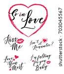 so in love vector typography... | Shutterstock .eps vector #703045567