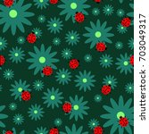a nice seamless pattern with... | Shutterstock .eps vector #703049317