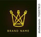 sportlights golden metallic logo