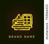 cake golden metallic logo