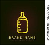 feeding bottle golden metallic...