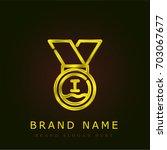 medal golden metallic logo | Shutterstock .eps vector #703067677