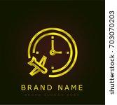 itinerary golden metallic logo