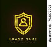 shield golden metallic logo