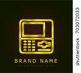 atm golden metallic logo