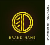 eye shadow golden metallic logo