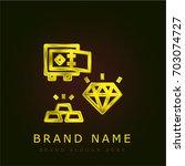 diamond golden metallic logo