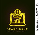 investment golden metallic logo