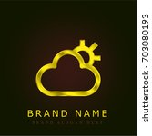 cloud golden metallic logo