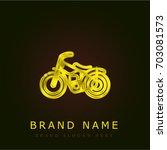 motorcycle golden metallic logo | Shutterstock .eps vector #703081573