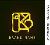 map golden metallic logo