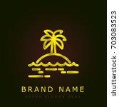 island golden metallic logo