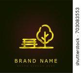 park golden metallic logo