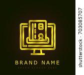 online payment golden metallic...