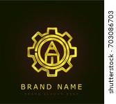 engineering golden metallic logo