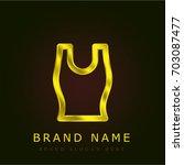 tank top golden metallic logo