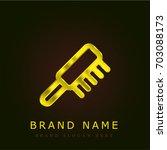comb golden metallic logo