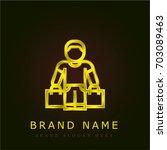buyer golden metallic logo