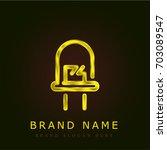 diode golden metallic logo