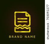 file golden metallic logo
