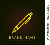 pen golden metallic logo