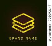 layers golden metallic logo