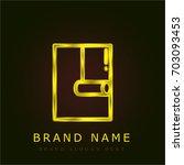 wallpaper golden metallic logo