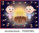 birthday background | Shutterstock . vector #70309381